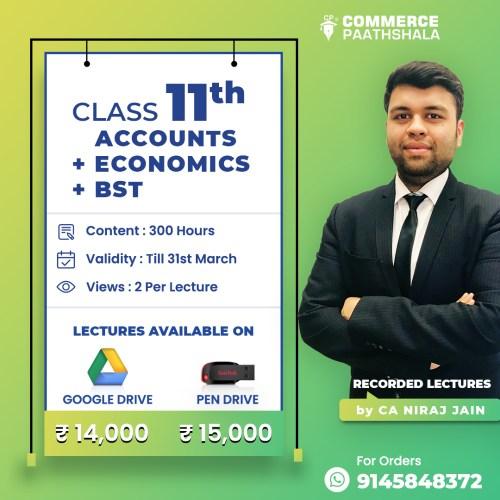 Class 11th Accounts Economics Business Studies