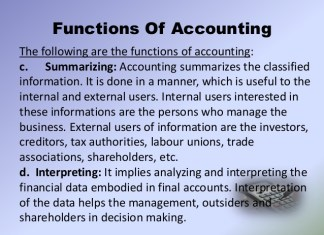 Basic Functions of Accounting