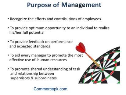 Purpose of management