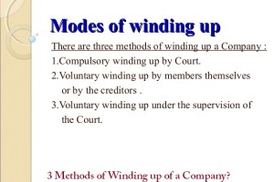 3 Methods of Winding up of a Company