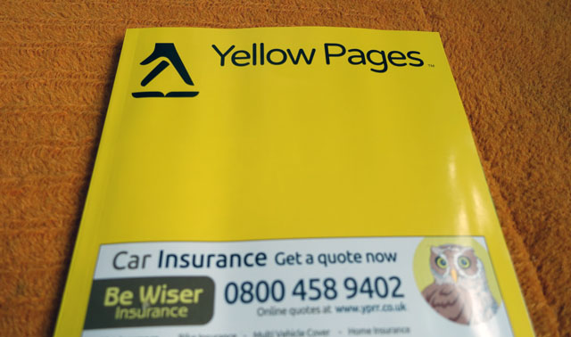 The decline of Yellow Pages