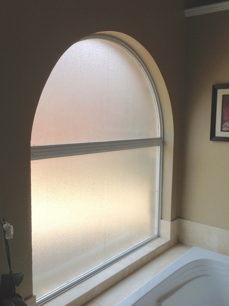 Bathroom Stained Glass foggy