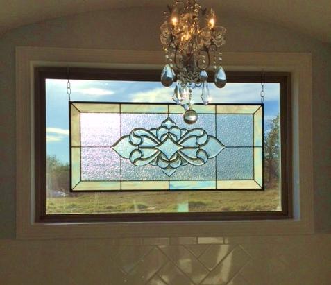 Bathroom Stained Glass skinny