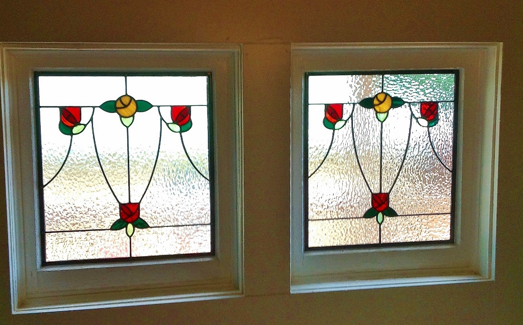 Floral Stained Glass squares