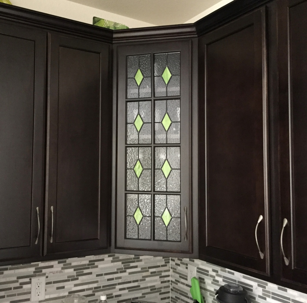 Kitchen Stained Glass side cabinent