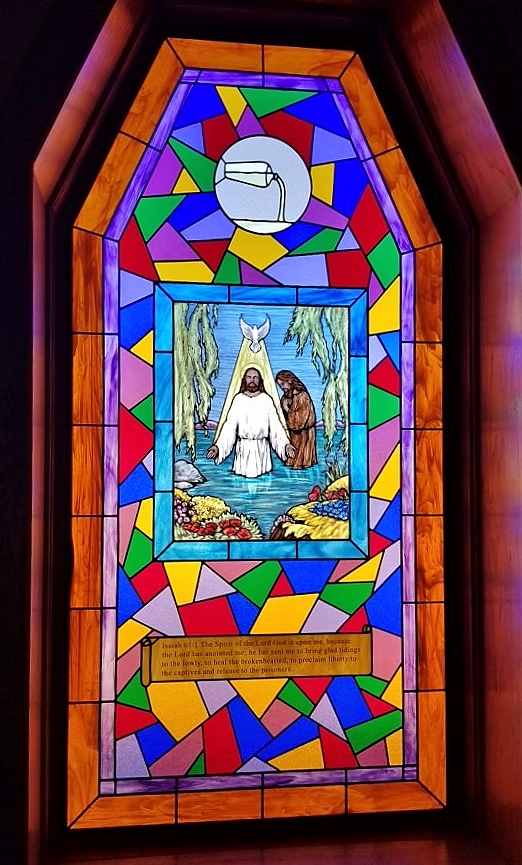 Religious Stained Glass Jesus