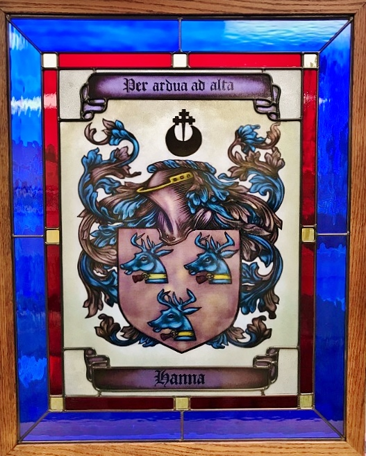 Religious Stained Glass family crest