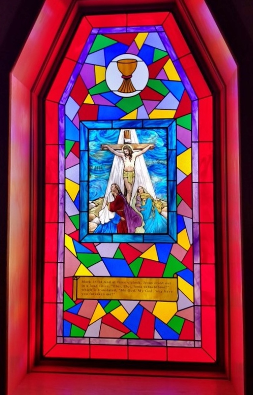 Religious Stained Glass jesus cup