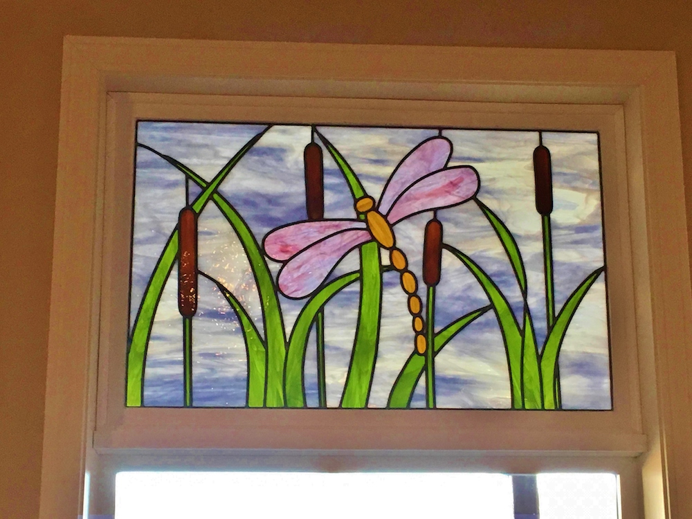 Transom Stained Glass floral
