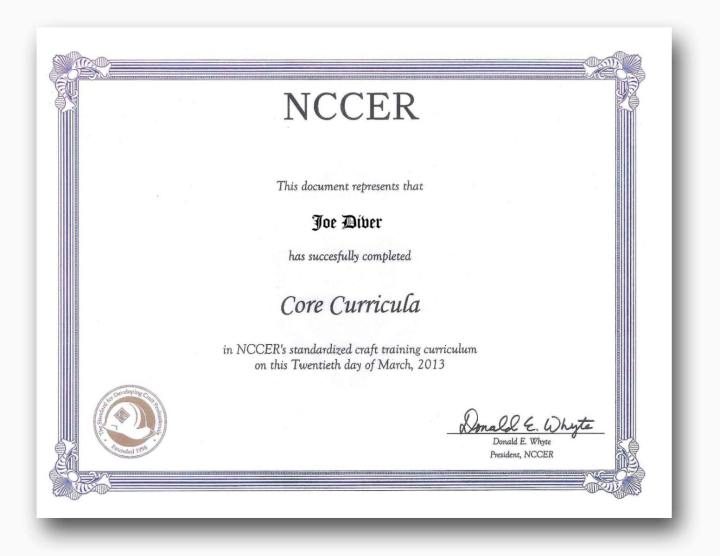 nccer certification card | Poemview.co