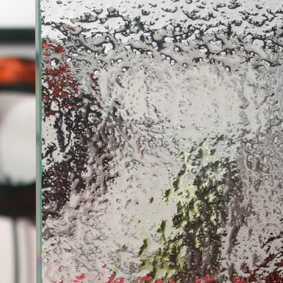 Cardinal Snowfall Patterned Glass Sample