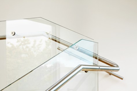 Custom Commercial Glass Stairwell Guard Rail Systems - A Cutting Edge Glass