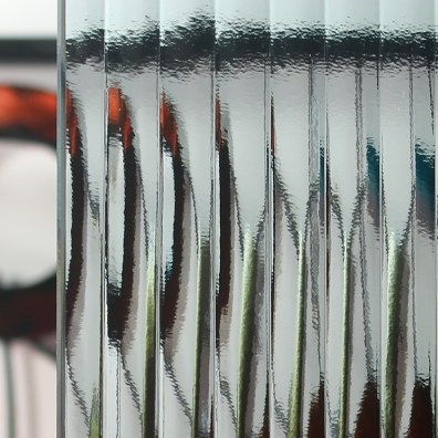 Reeded Patterned Glass Sample