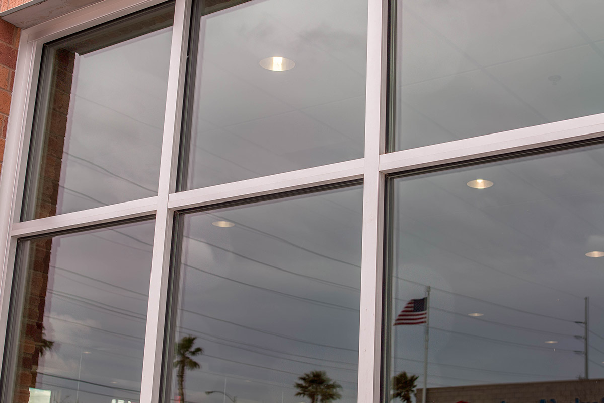 Commercial Aluminum Windows : Commercial storefront glass system replacement repair