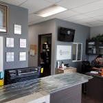 Inside A Cutting Edge Glass & Mirror Front Office