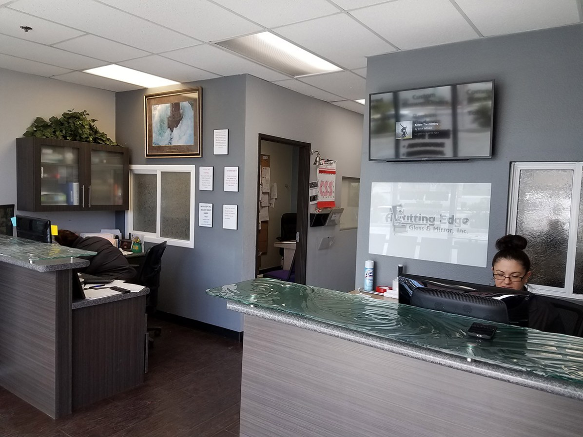 Inside Front Office - A Cutting Edge Glass & Mirror