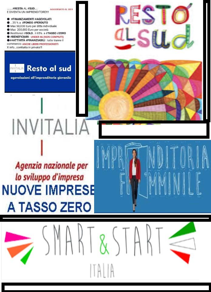 Smart and start, impresa tasso zero, resto al sud, imprenditoria femminile - domanda di utente msg