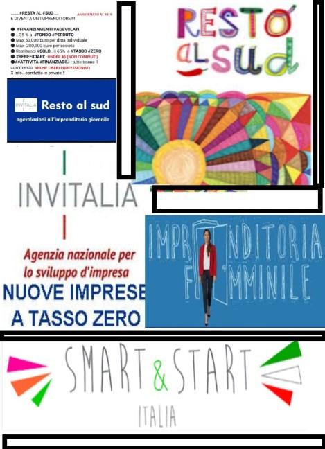 smart and start, nuove imprese tassso zero, resto al sud e imprenditoria femminile