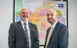 (left to right): Tim Davies, head of the Bristol office of Colliers International, with Adam Francis, who has joined as a director and will be leading the Bristol Accurates team in the Rating department.