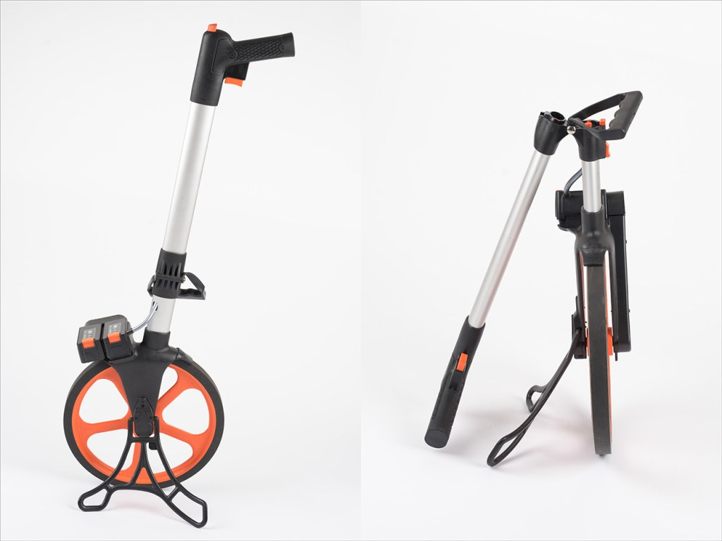 professional product photography against white background of measuring wheel