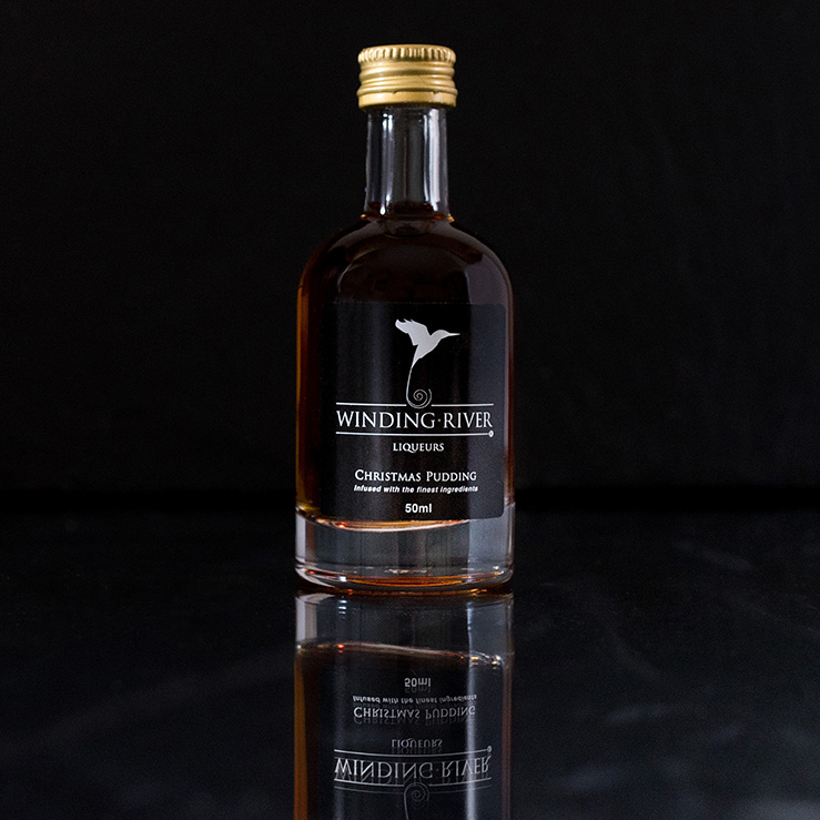 product photography shot against dark background