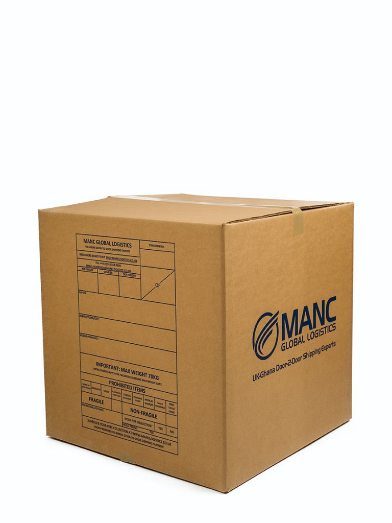 product photography of branded and sealed cardboard box