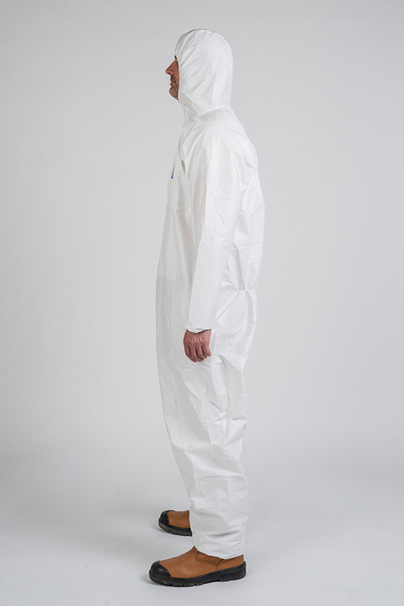 product photography full size details of coverall