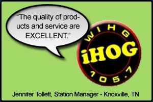 """WIHG Testimonial stating """"The quality of products and service are excellent"""" - Jennifer Tollet, Knoxville, TN"""