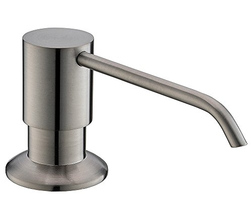 commercial stainless steel bar bath kitchen pump liquid brushed nickle kitchen sink soap dispenser for