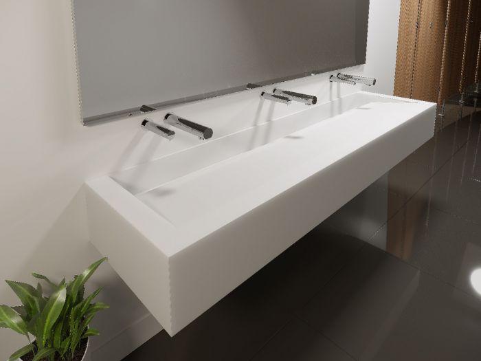 conceal corian wash trough