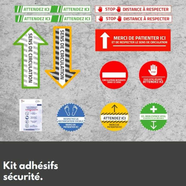 Kit adhésifs sécurité covid-19