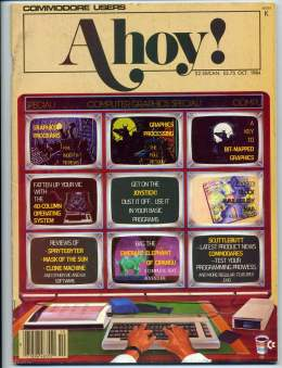 Ahoy! Issue 10 - October 1984 - Graphics Joysticks - Commodore Vic 20 & C64