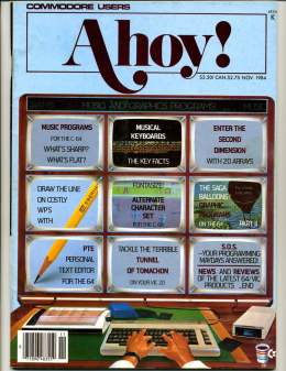 Ahoy! Issue 11 - November 1984 - Musical Keyboards - Commodore Vic 20 & C64