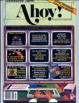 Ahoy! Issue 15 - March 1985 - Commodore Vic 20 & C64