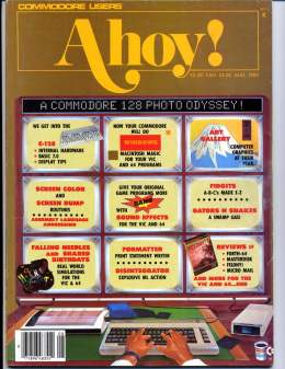 Ahoy! Issue 20 - August 1985 - 128 Photo Odyssey - Commodore Vic 20 & C64