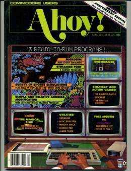 Ahoy! Issue 25 - January 1986 - Commodore Vic 20 & C64 128 Amiga