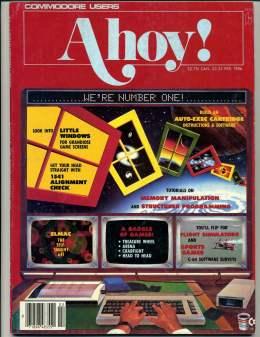 Ahoy! Issue 25 - February 1986 - Windows - 1541 Alignment - c 20 & C64 128 Amiga