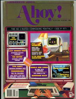 Ahoy! Issue 36 - December 1986 - Artist - Tips - Commodore Vic 20 & C64 128 Amiga