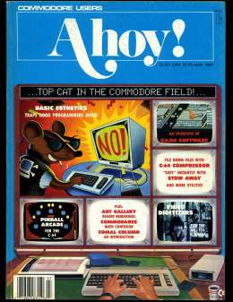 Ahoy! Issue 39 - 1987 - Pinball - Commodore Vic 20 & C64 128 Amiga