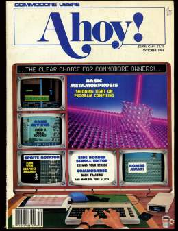 Ahoy! Issue 58 - October 1988 - Sprite Rotators - Commodore Vic 20 & C64 128 Amiga