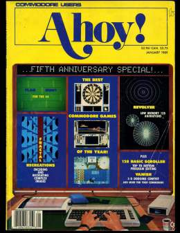 Ahoy! Issue 61 - January 1989 - 128 BASIC - Commodore Vic 20 & C64 128 Amiga
