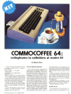 Commodore 64 Italian Magaine Ad MC MicroComputer For Commocoffee Expresso Maker