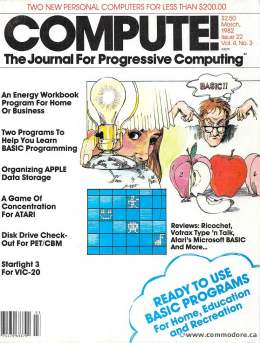 Compute! Magazine Issue #22 - March 1982