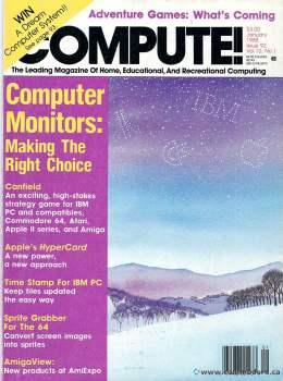 Compute! Magazine Issue #92 - January 1988 - IBM - Monitors - Apple - Commodore