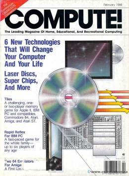 Compute! Magazine Issue #93 - February 1989 - IBM - Apple - Commodore - CDs Laser Disks 64 Amiga Atari