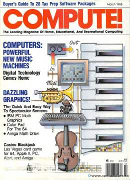 Compute! Magazine Issue #94 - March 1988 - IBM - Apple - Commodore - CDs Laser Disks 64 Amiga Atari