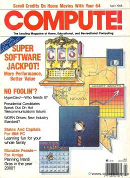 Compute! Magazine Issue #95 - April 1988 - IBM PC - Apple - Commodore - 64 -  Amiga - Atari - Graphics
