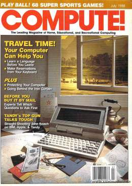 Compute! Magazine Issue #98 - July 1988 - IBM PC jr - Apple IIgs - Commodore - 64c - Amiga 2000- Atari ST