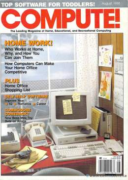 Compute! Magazine Issue #99 - August 1988 - IBM PC jr - Apple IIgs - Commodore - 64c - Amiga 2000- Atari ST - Tandy - Radio Shack
