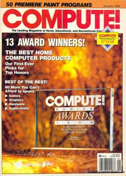 Compute! Magazine Issue #104 - January 1989 - Commodore 128 - 64 - IBM PC - Apple II - Amiga - Atari ST - Radio Shack - CBM - Mac